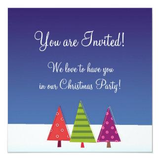 Designer Flat Christmas Invitation