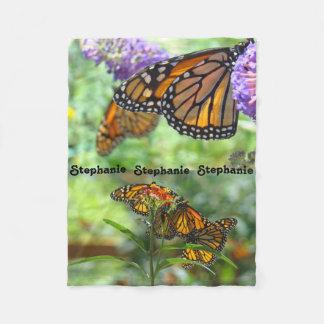 Designer Fleece Blankets Monarch Butterflies gifts