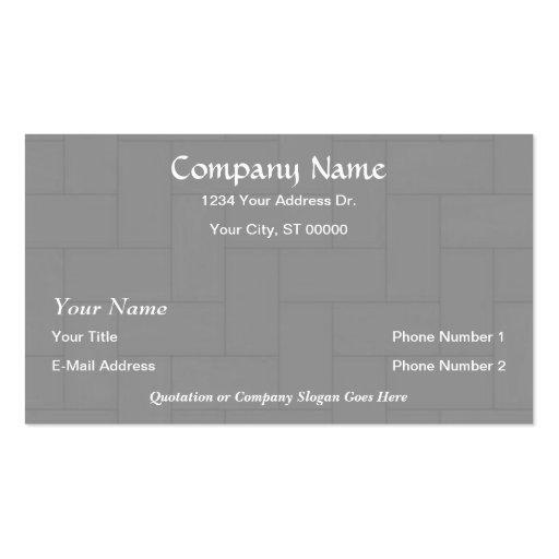 Designer Flooring Wood Tile Business Cards