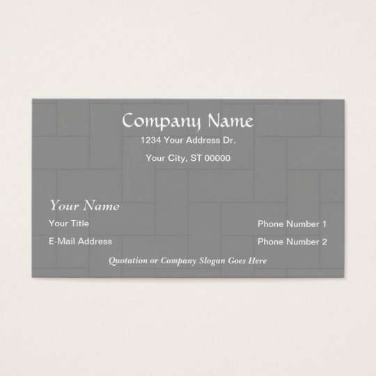Designer Flooring Wood Tile Business Cards