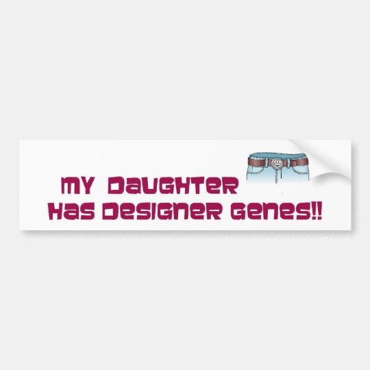 Designer genes bumper sticker