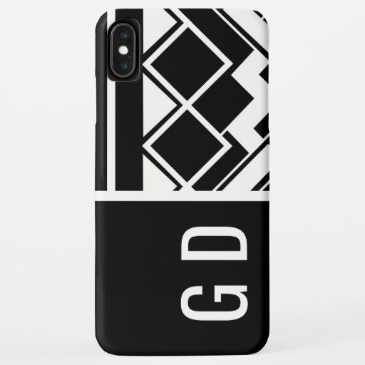 Designer Geometric Black and White iPhone XS Max Case