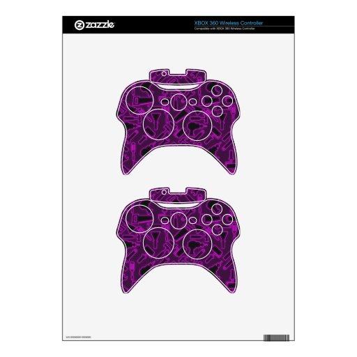 Designer Glowing Luminous DIY Tools Vector Pattern Xbox 360 Controller Skin