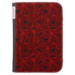 Designer Glowing Red DIY Tools Vector Pattern Kindle Folio Cases