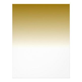 Designer Gold to White Fade Letterhead