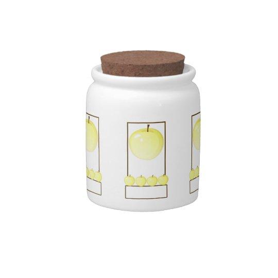 Designer Golden Apples Jar