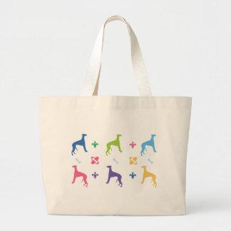 Designer Greyhound Jumbo Tote Bag