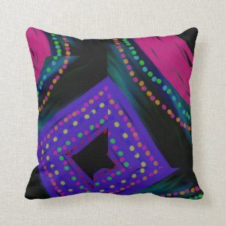 Designer Home Decor Abstract - Pink/Blue Pillow