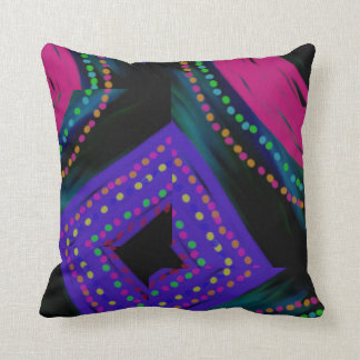 Designer Home Decor Abstract - Pink/Blue Throw Pillow