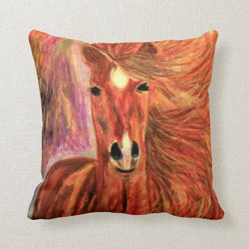 Decorative Pillows Horses : DESIGNER HORSE THROW PILLOW - WESTERN DESIGN GIFTS Zazzle