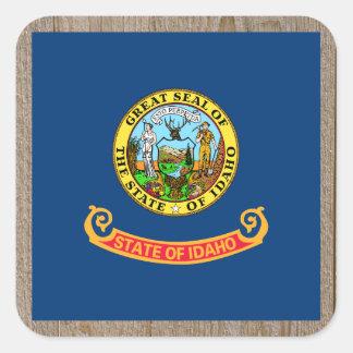 Designer Idaho Flag Box Square Sticker