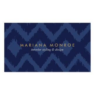 DESIGNER IKAT PATTERN in BLUE Business Cards
