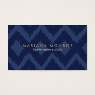 DESIGNER IKAT PATTERN in BLUE Business Card