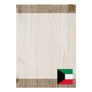"Designer Kuwait Flag Box 5"" X 7"" Invitation Card"
