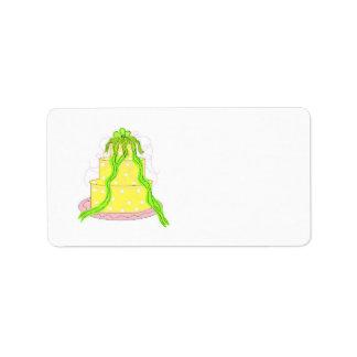 Designer Lemon Cake Label