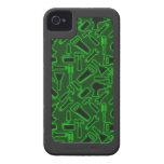 Designer Luminous DIY Tools Vector Pattern iPhone 4 Case-Mate Cases
