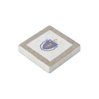 Designer Massachusetts Flag Box Stone Magnet