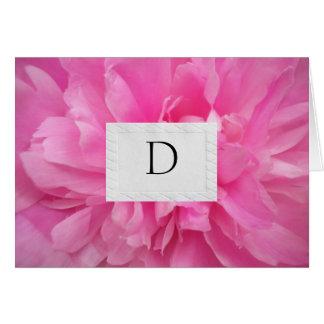 DESIGNER MONAGRAMMED WEDDING THANK YOU NOTES GREETING CARD
