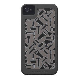 Designer monochrome DIY Tools Vector Pattern Case-Mate iPhone 4 Case
