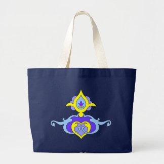 Designer Motif : Textile Print Large Tote Bag