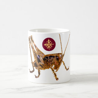 Designer mugs-symbol of unity portrayed by locust 11 oz magic heat Color-Changing coffee mug