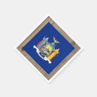 Designer New York Flag Box Standard Cocktail Napkin