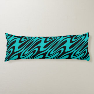 Designer Oil and Water Abstract Body Pillow