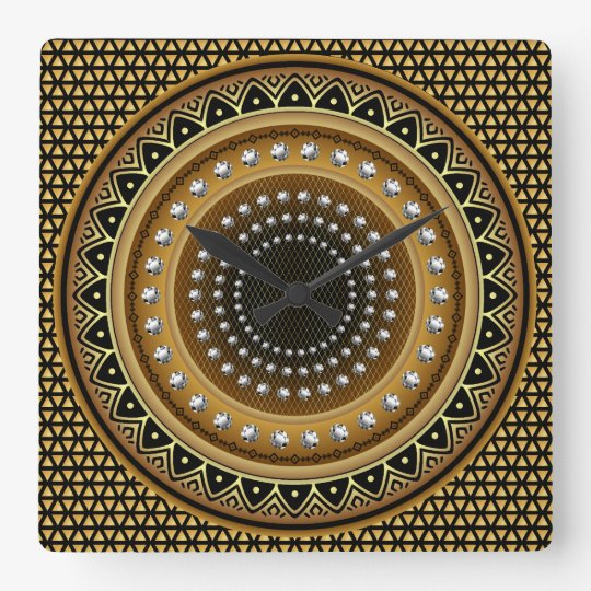 Designer One of a kind View notes please Square Wall Clock