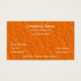 Designer Orange Crumpled Paper Business Cards