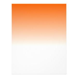 Designer Orange to White Fade Letterhead
