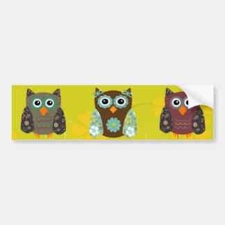 Designer Owl Alice Car Bumper Sticker