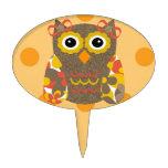 Designer Owl Delila Cake Pick