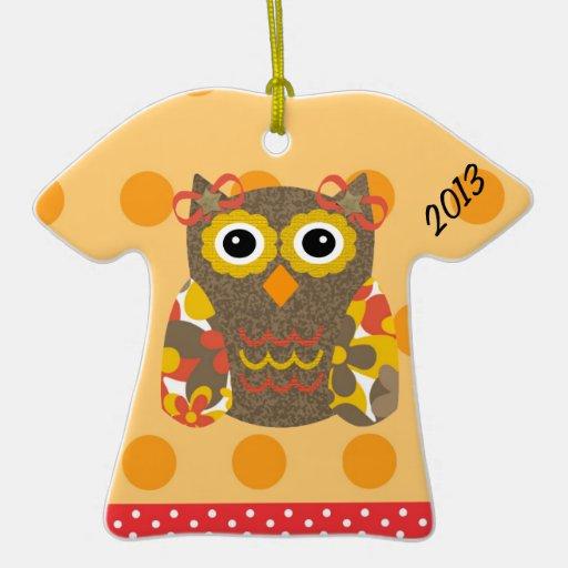 Designer Owl Delila Christmas Ornaments