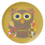 Designer Owl Delila Plate