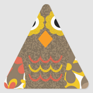 Designer Owl Delila Triangle Sticker