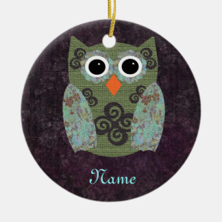 Designer Owl Rosie Ceramic Ornament