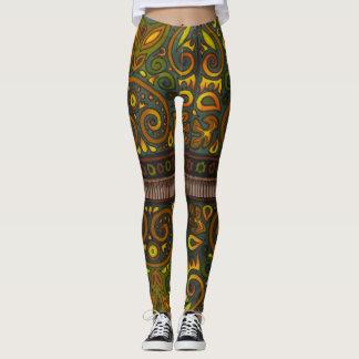Designer Peek-a-boo Knee Leggings