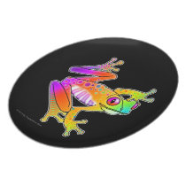 DESIGNER PLATE - FROG POP ART