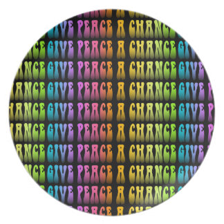 DESIGNER PLATE - GIVE PEACE A CHANCE