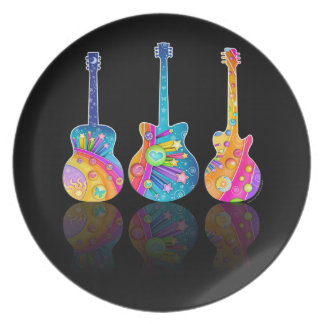 DESIGNER PLATE - GUITAR REFLECTIONS