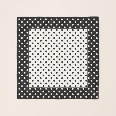 Designer Polka Dots Square Chiffon Scarf