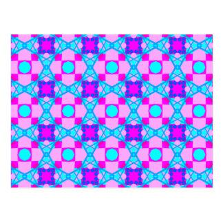 Designer Postcard with Tesselation Pattern