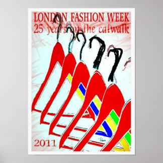 Designer poster 2011 London Fashion Week