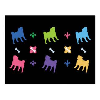 Designer Pug Postcard