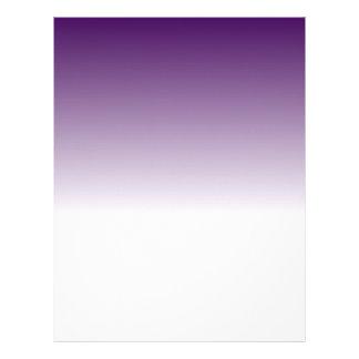 Designer Purple to White Fade Letterhead