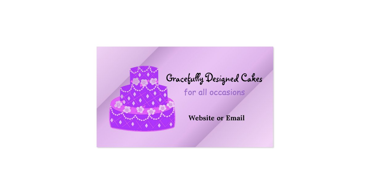 wedding cake business from home designer purple wedding cake business card zazzle 22133