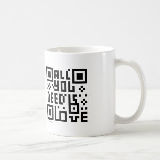 Designer QR Code Mug : All you need is love
