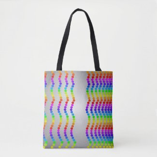 Designer Rainbow Tote Bags Beach Shopping Totes