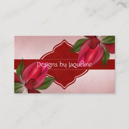 Designer Red Blooms Appointment Card