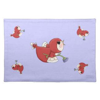 Designer Red Cartoon Cardinal Bird Placemat